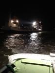 Bild 0 von Nachteinsatz: Freiwillige Seenotretter befreien festgekommene Frachtfähre vor Juist
