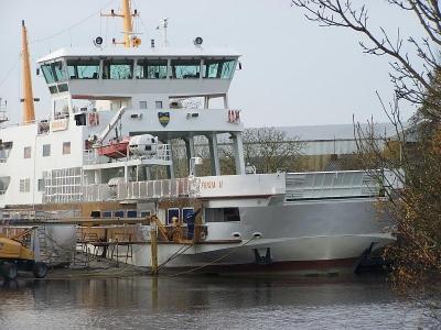 """Bild 0 von Größere Arbeiten an der """"Frisia II"""" sind im vollen Gange"""