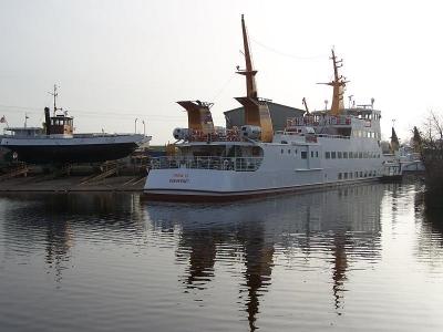 """Bild 0 von Juist-Fähre """"Frisia IX"""" zurzeit auf der Werft in Oldersum"""
