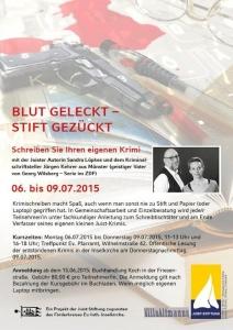 Bild 0 von Kurzkrimi-Workshop mit Sandra Lüpkes und Jürgen Kehrer