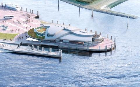 Bild 0 von Erster Bauabschnitt für neues Fahrgast-Terminal auf Norderney fertig