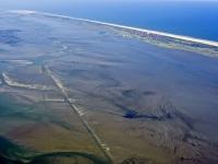 Bild 2 von Aktuelle Luftbilder vom Juister Watt und dem Hafen