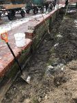 Bild 1 von Winterzeit ist Bauzeit: Kirchhofsmauer wurde von Frauen abgebaut