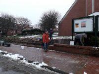 Bild 6 von Winterzeit ist Bauzeit: Kirchhofsmauer wurde von Frauen abgebaut