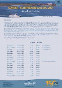 """Bild 0 von """"Corona-Fahrplan"""" der Reederei wurde bis zum 20. Mai verlängert"""