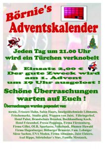 Bild 0 von Gewinnerübersicht Börnie's Adventskalender - Tag 17-24