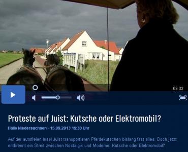 Bild 0 von Proteste auf Juist: Kutsche oder Elektromobil?
