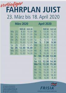 Bild 0 von Geänderter Schiffsfahrplan bis zum 18. April bei der Norden-Frisia